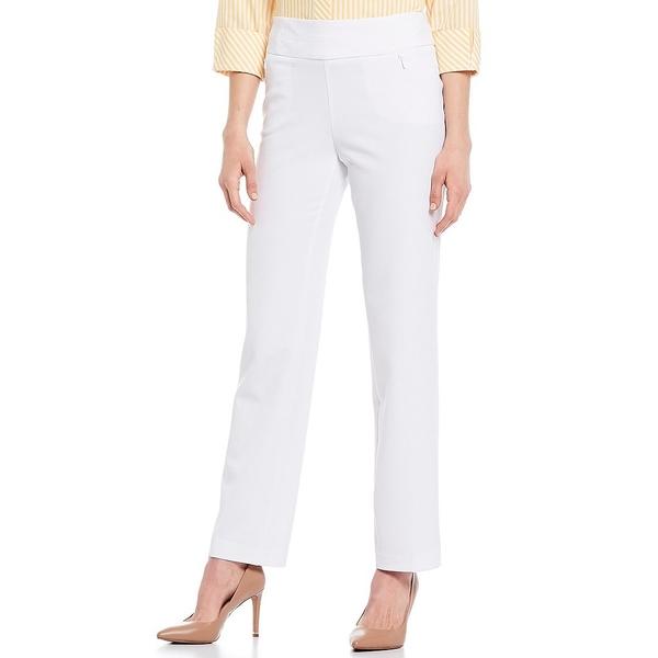 インベストメンツ レディース カジュアルパンツ ボトムス the PARK AVE fit Pull-On Straight Leg Pants with Pockets White