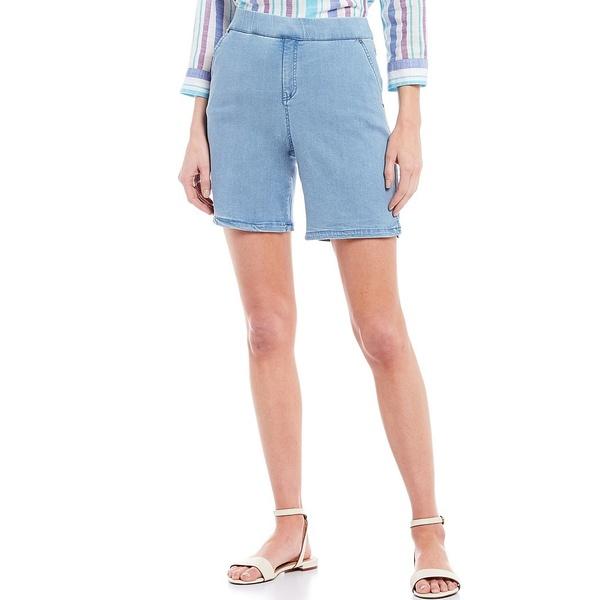 イントロ レディース カジュアルパンツ ボトムス Rose Stretch Pull-On Denim Shorts Freedom Light Wash