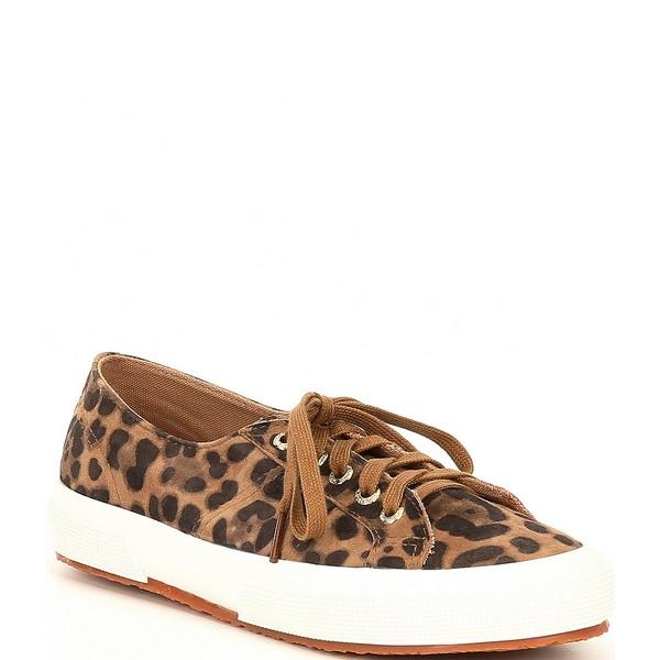 スペルガ レディース スニーカー シューズ 2750 Leopard Print Suede Sneakers Leopard