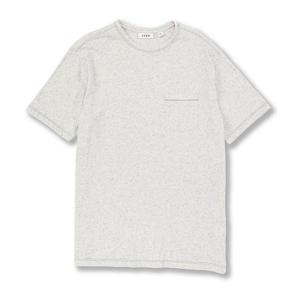 ロウン メンズ Tシャツ トップス Short-Sleeve Nep Pocket Crew Neck Tee Oatmeal Heather