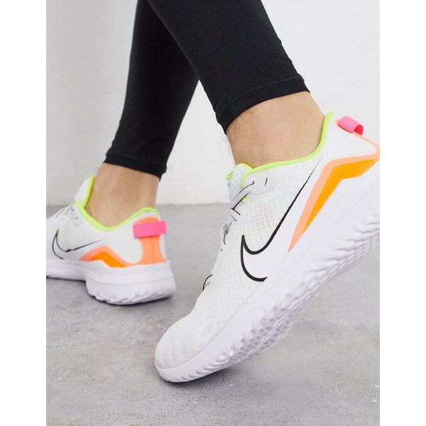 ナイキ メンズ スニーカー シューズ Nike Running Renew Ride sneakers in white White