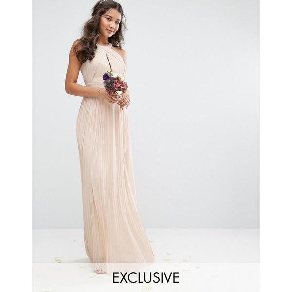 ティエフエヌシー レディース ワンピース トップス TFNC bridesmaid exclusive pleated maxi dress in pearl pink Pearl pink