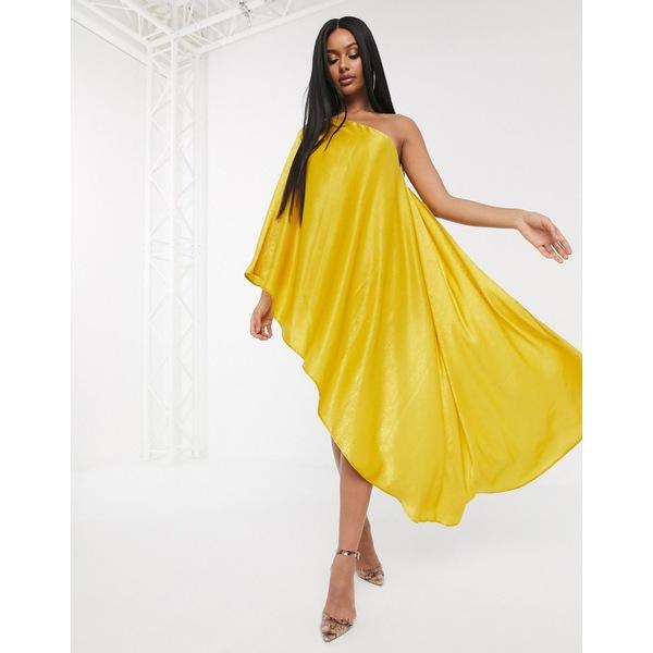 エイソス レディース トップス ワンピース Yellow 全商品無料サイズ交換 エイソス レディース ワンピース トップス ASOS DESIGN drape satin one shoulder romper Yellow