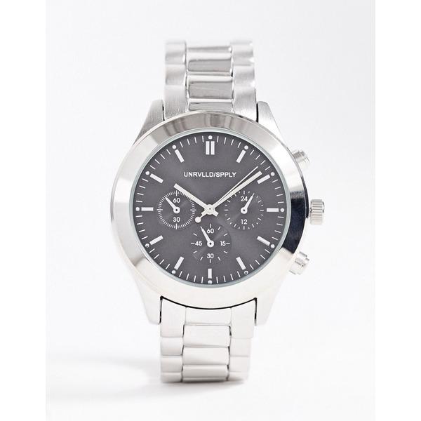 エイソス メンズ 腕時計 アクセサリー ASOS DESIGN bracelet watch in silver tone Silver
