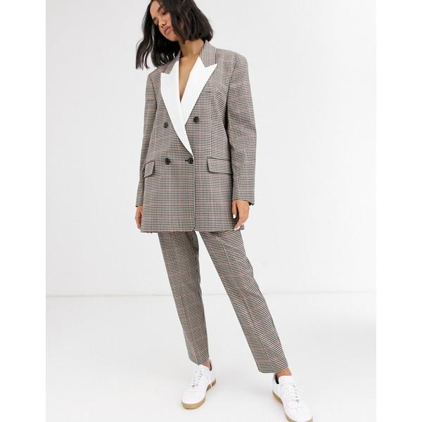 エイソス レディース カジュアルパンツ ボトムス ASOS DESIGN check tux slim suit pants Check