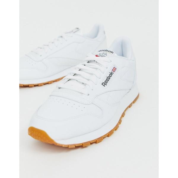 リーボック メンズ スニーカー シューズ Reebok Classic leather sneakers in white 49799 Wh1 - white 1
