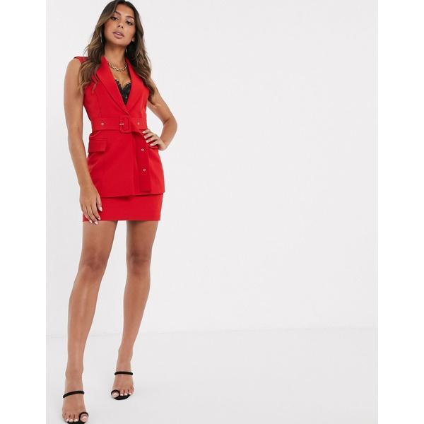 エイソス レディース スカート ボトムス ASOS DESIGN pop suit mini skirt Red