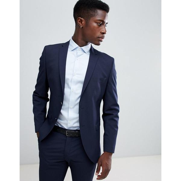 セレクテッドオム メンズ ジャケット&ブルゾン アウター Selected Homme Slim Fit Suit Jacket In Navy Pinstripe Navy blazer
