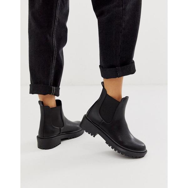 レイド レディース ブーツ&レインブーツ シューズ RAID Radar Black Chunky Chelsea Boots Black pu