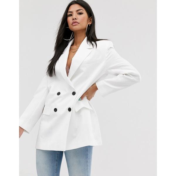 エイソス レディース ジャケット&ブルゾン アウター ASOS DESIGN dad blazer in white White
