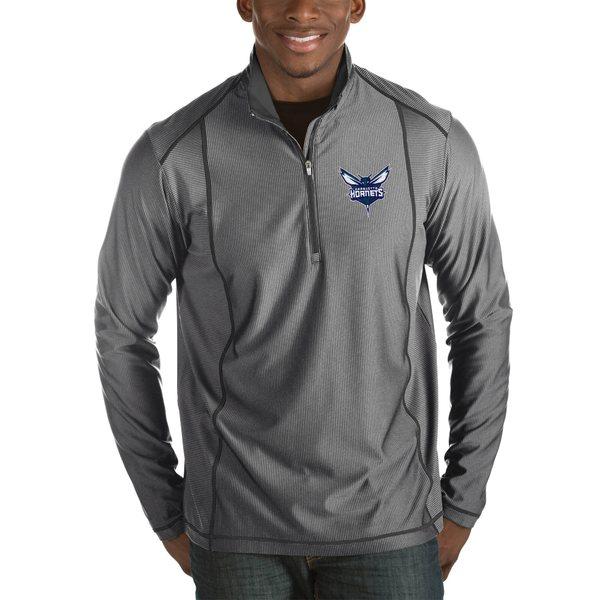 アンティグア メンズ ジャケット&ブルゾン アウター Charlotte Hornets Antigua Tempo Big & Tall HalfZip Pullover Jacket Black
