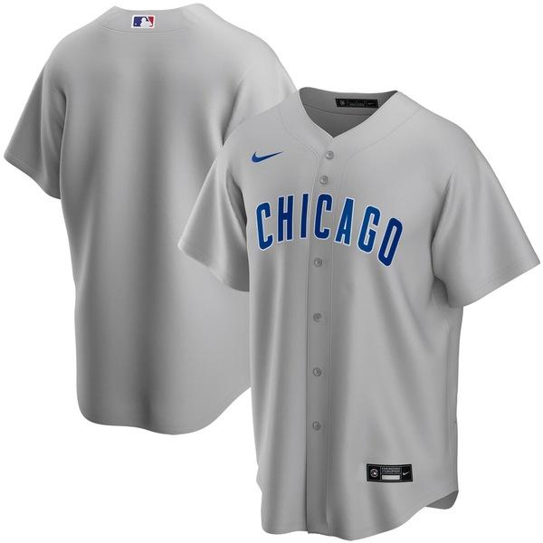 ナイキ メンズ ユニフォーム トップス Chicago Cubs Nike Road 2020 Replica Team Jersey Gray