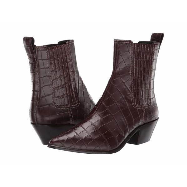 ロフラー ランダル レディース ブーツ&レインブーツ シューズ Aylin Western Bootie Dark Brown Croc Embossed Leather