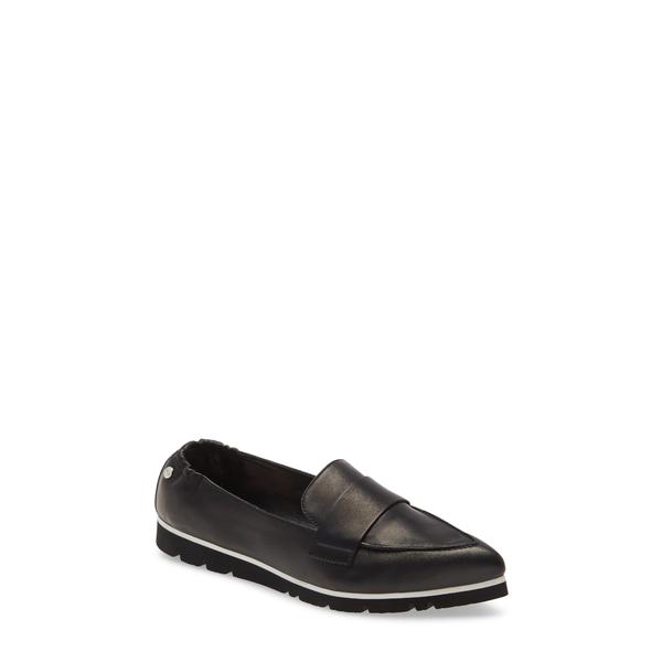エージーエル レディース スリッポン・ローファー シューズ Micro Pointed Toe Loafer Black Leather