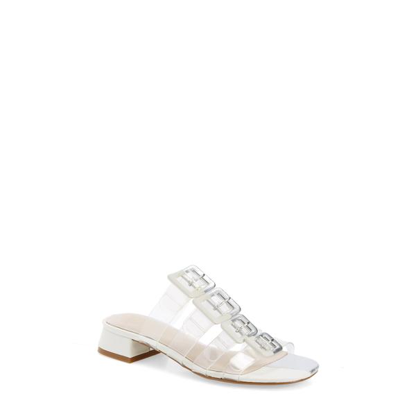 セセリアニューヨーク レディース サンダル シューズ Lincoln Strappy Clear Slide Sandal Silver Alabaster