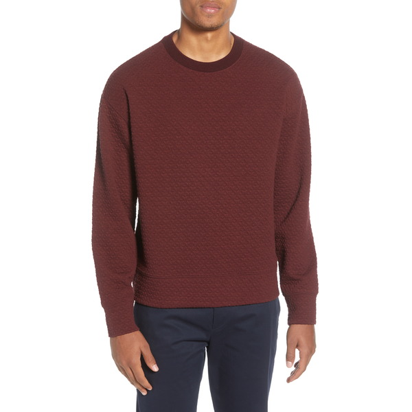 クラブ モナコ メンズ シャツ トップス Deco Quilted Sweatshirt Red