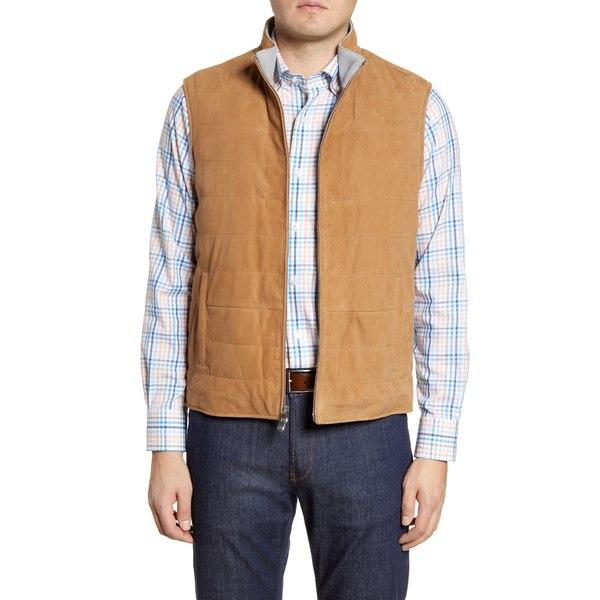 ピーター・ミラー メンズ ジャケット&ブルゾン アウター Suede Front Vest Tan