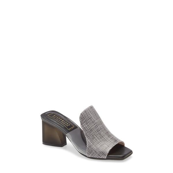 ヒスパニタス レディース サンダル シューズ Parker Block Heel Sandal Saffiano Black Leather