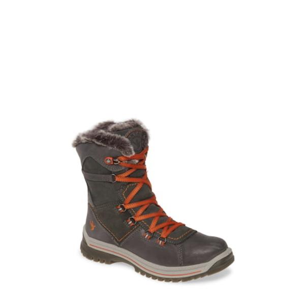 サンタナカナダ レディース ブーツ&レインブーツ シューズ Majesta Luxe Waterproof Winter Boot Dark Grey / Rust Leather