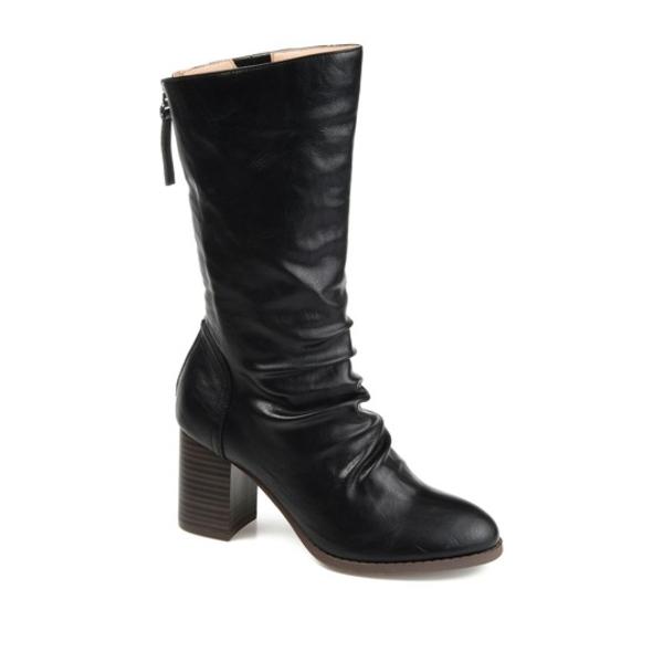 ジャーニーコレクション レディース ブーツ&レインブーツ シューズ Sequois Slouch Heeled Boot BLACK