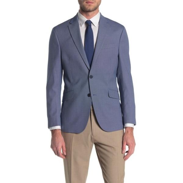 ケネスコール メンズ ジャケット&ブルゾン アウター Patterned Two Button Notch Collar Modern Fit Jacket 421NAVY/WH