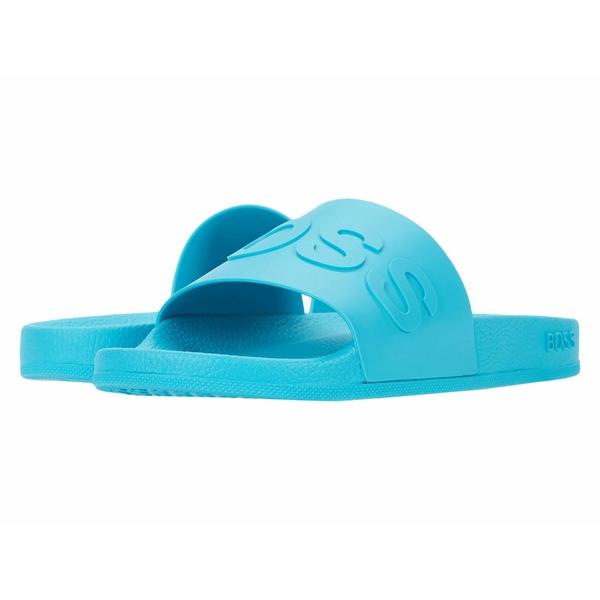 ヒューゴボス メンズ サンダル シューズ Bay Slide by BOSS Medium Blue