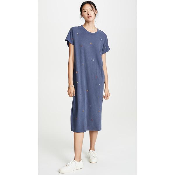 ザ・グレート レディース Poppy ワンピース Dress トップス Washed The Boxy Dress with Multi Poppy Embroidery Washed Navy, mactino:bd1bdb2b --- officewill.xsrv.jp