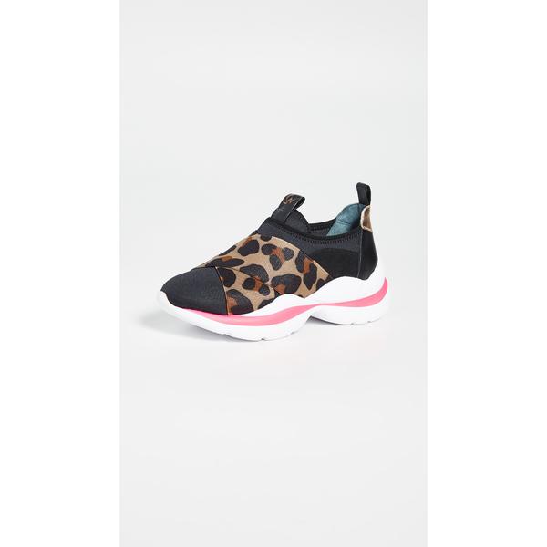 ソフィアウェブスター レディース スニーカー シューズ Wavy Sneakers Black/Leopard