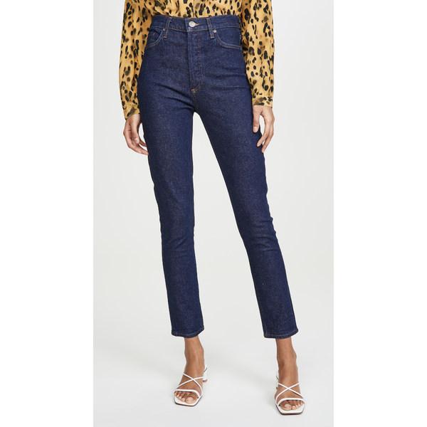 ゴールドサイン レディース デニムパンツ ボトムス The High Rise Slim Jeans Rinse
