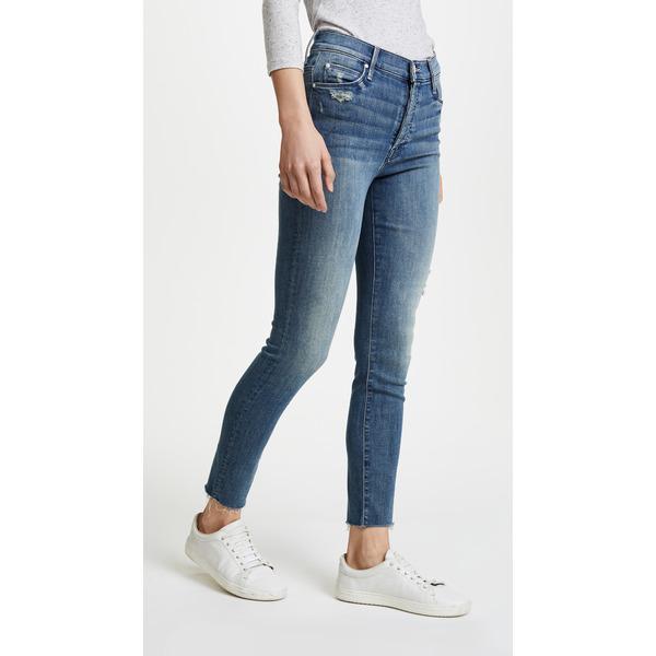 マザー レディース デニムパンツ ボトムス Stunner Ankle Fray Jeans Graffiti Girl