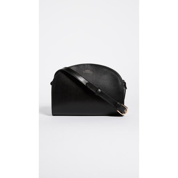 アーペーセー レディース ショルダーバッグ バッグ Half Moon Bag Black