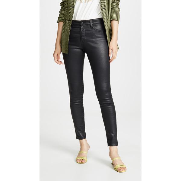 エージー レディース デニムパンツ ボトムス The Farrah Skinny Jeans Leatherette Super Black