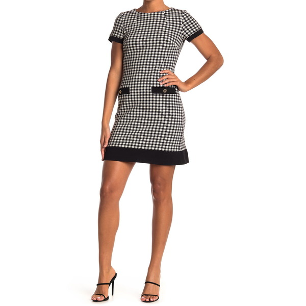 在庫一掃 トミー ヒルフィガー レディース トップス ワンピース BLK IVY Sheath 全商品無料サイズ交換 新作続 Dress Houndstooth