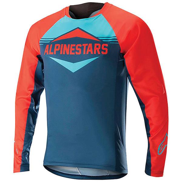 アルパインスターズ メンズ サイクリング スポーツ Alpine Stars Men's Mesa LS Jersey Energy Orange / Poseidon Blue