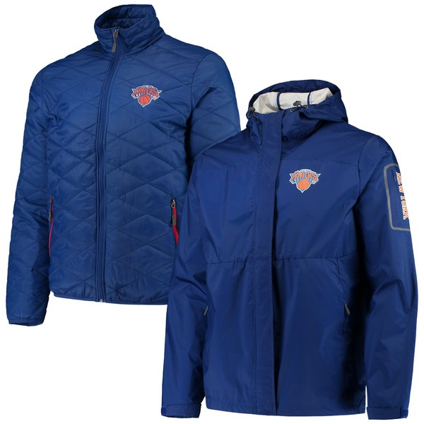 カールバンクス メンズ ジャケット&ブルゾン アウター New York Knicks GIII Sports by Carl Banks Acclimation 3in1 Systems FullZip Jacket Blue