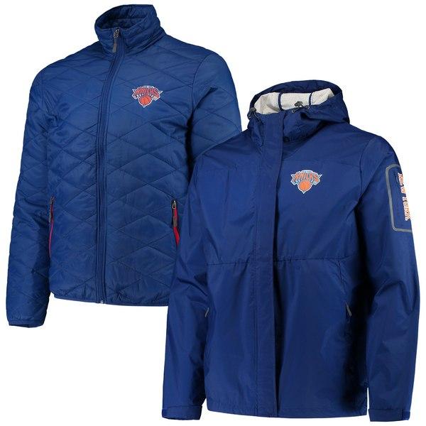 カールバンクス メンズ ジャケット&ブルゾン アウター New York Knicks GIII Sports by Carl Banks Acclimation 3in1 Systems FullZip Jacket Blue