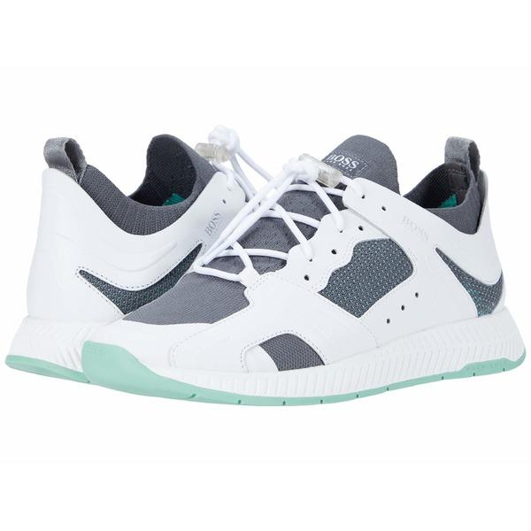 ヒューゴボス メンズ スニーカー シューズ Titanium Runn Sneakers Open White