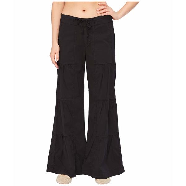 エックスシーブイアイ レディース カジュアルパンツ ボトムス Wearables Terraced Wide Leg Stretch Poplin Pants Black