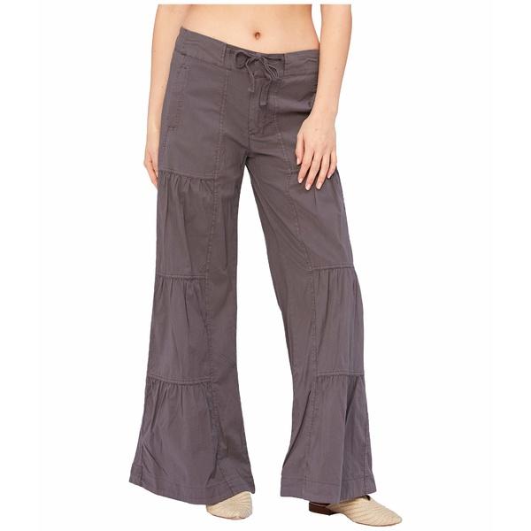 エックスシーブイアイ レディース カジュアルパンツ ボトムス Wearables Terraced Wide Leg Stretch Poplin Pants Basalt Pigment