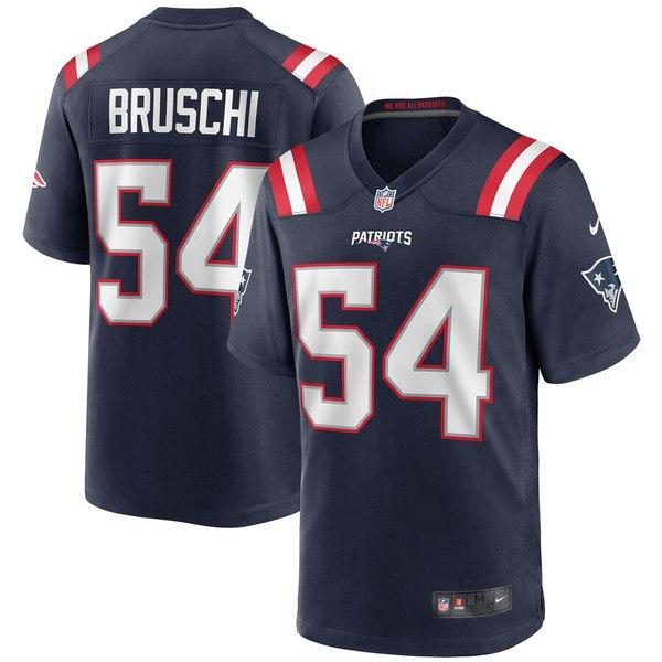 ナイキ メンズ ユニフォーム トップス Tedy Bruschi New England Patriots Nike Game Retired Player Jersey Navy