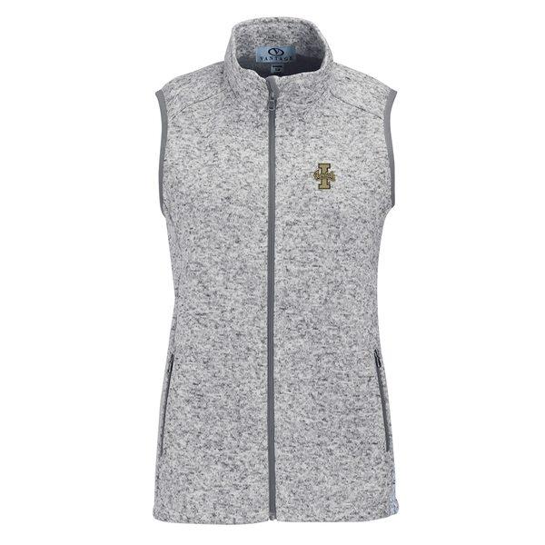 ビンテージアパレル レディース ジャケット&ブルゾン アウター Idaho Vandals Women's Summit Fleece Full Zip Sweater Vest Heather Gray