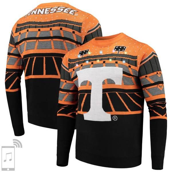 フォコ メンズ シャツ トップス Tennessee Volunteers College Bluetooth Light Up Sweater Tenn Orange
