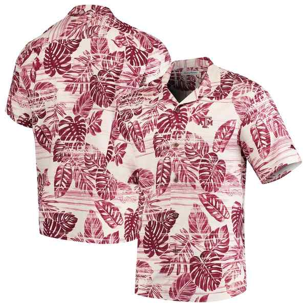 トッミーバハマ メンズ シャツ トップス Texas A&M Aggies Tommy Bahama Super Fan Camp Shirt Maroon