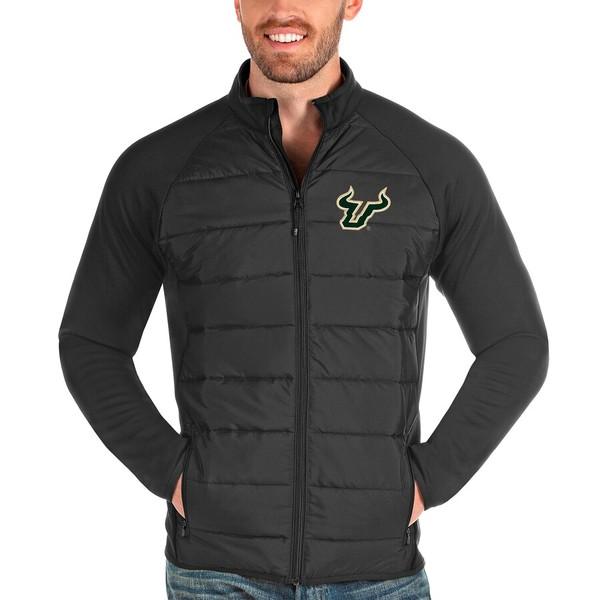 アンティグア メンズ ジャケット&ブルゾン アウター South Florida Bulls Antigua Altitude Full-Zip Jacket Charcoal