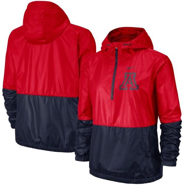 ナイキ レディース ジャケット&ブルゾン アウター Arizona Wildcats Nike Women's Anorak Half-Zip Jacket Red/Navy