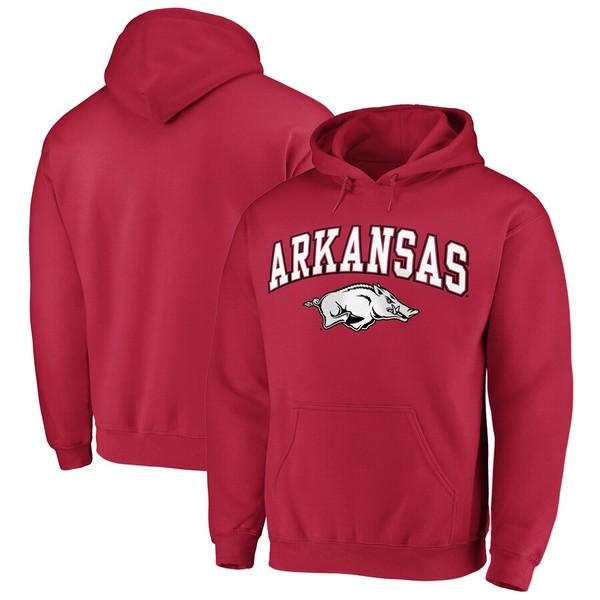 ファナティクス メンズ パーカー・スウェットシャツ アウター Fanatics Branded Arkansas Razorbacks Campus Pullover Hoodie Cardinal