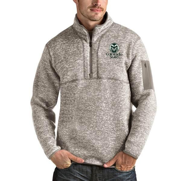 アンティグア メンズ ジャケット&ブルゾン アウター Colorado State Rams Antigua Fortune Half-Zip Pullover Jacket Oatmeal