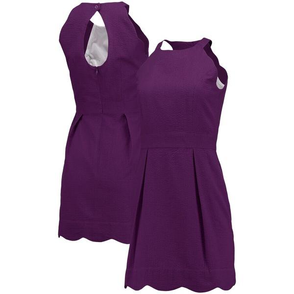 ローレンジェームス レディース ワンピース トップス Lauren James Women's The Landry Seersucker Dress Purple