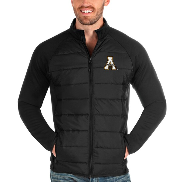 アンティグア メンズ ジャケット&ブルゾン アウター Appalachian State Mountaineers Antigua Altitude Full-Zip Jacket Black