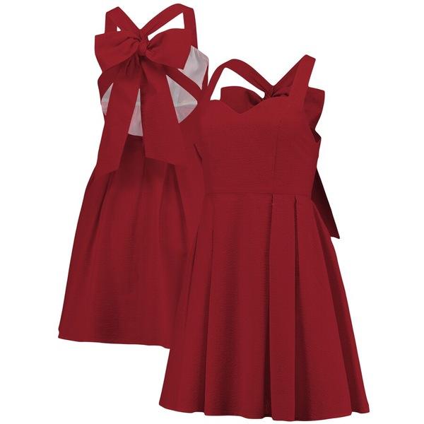 ローレンジェームス レディース ワンピース トップス Lauren James Women's The Livingston Seersucker Dress Crimson